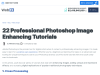 22 Professional Photoshop Image Enhancing Tutorials