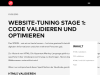 Coding Pioneers - Website-Tuning Stage 1