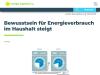 Bewusstsein für Energieverbrauch im Haushalt steigt