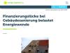 Finanzierungslücke bei Gebäudesanierung belastet Energiewende