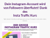 Instagram Traffic Kurs