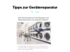 Wie unterscheidet sich die Reparatur von Waschmaschinen von anderenGeräten?